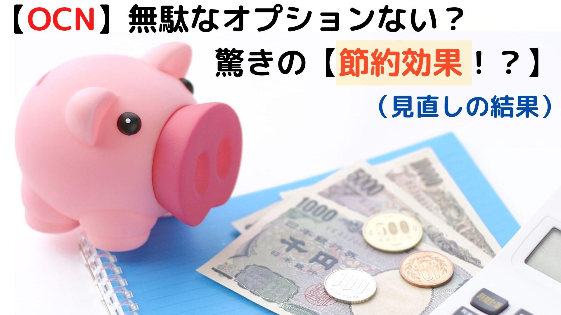 【OCN】おまかせオプションパックを解約【節約効果がすごかった!?】知らなきゃ損!